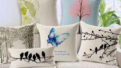 Как декорировать интерьер ватными подушками