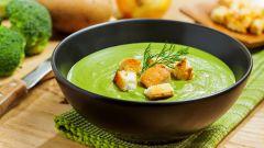 Постный картофельный крем-суп с брокколи