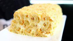 """Домашний торт """"Полено"""" из трех продуктов: по вкусу не уступает """"Наполеону"""""""