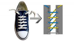 Как зашнуровать кроссовки красиво на 5 дырок