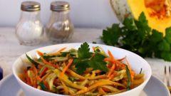 Витаминные салаты с тыквой