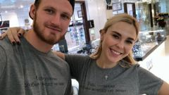 Пелагея с мужем и дочкой: фото