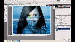 Как в фотошопе наложить картинку одну на другую