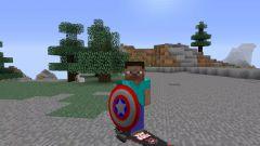 Как в майнкрафте сделать щит Капитана Америка