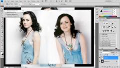 Как в фотошопе соединить две картинки рядом