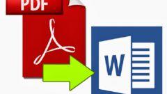 Как pdf перевести в word для редактирования онлайн