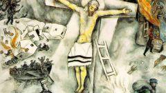 «Белое распятие»: подробное описание картины Марка Шагала