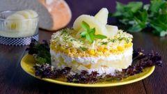Как приготовить вкусные, простые салаты с ананасом