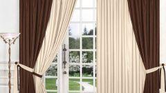 Как просто украсить окно шторами