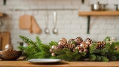 Как просто украсить кухню к новогодним праздникам