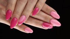 Розово-красный маникюр: идеи дизайна для ногтей