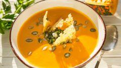 Как приготовить тыквенный суп-пюре с грибами