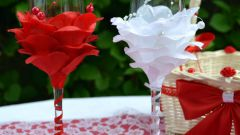 Как сделать красивые бокалы-розочки на свадьбу