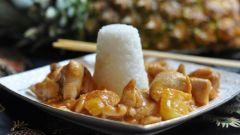 Как приготовить курицу под соусом карри с ананасом