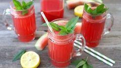 Как приготовить освежающий и очень летний арбузный лимонад