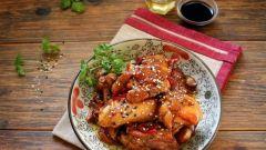 Как приготовить курицу с имбирем и медом