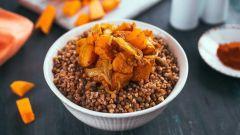 Как сделать гречку с печеной тыквой, луком и чесноком