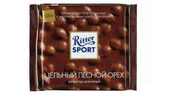 Шоколад Ritter Sport молочный с цельными лесными орехами