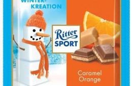 Зимний шоколад Ritter Sport с карамелью и апельсином