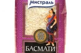 """Длиннозерный рис """"Мистраль """"Басмати"""""""