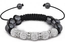 Модные браслеты Shamballa crystal ball beads с сайта  Aliexpress