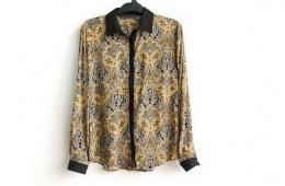 Винтажная блузка с принтом от AliExpress