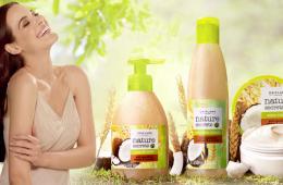 Пшенично-кокосовый крем для нежного мытья