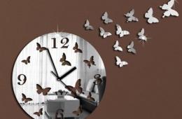 Настенные часы с самоклеящимися бабочками с сайта Aliexpress