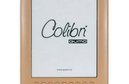 QUMO Colibri – электронная книга с диагональю черно-белого экрана в 5 дюймов