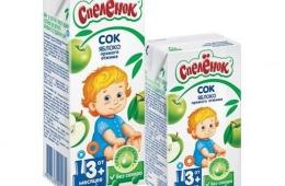 Вкусный детский сок для малышей