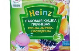 Детские вкусные кашки от Heinz
