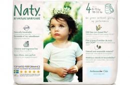 Naty – бренд хорошо впитывающих подгузников по приемлемой стоимости