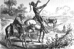Хитроумный Идальго Дон Кихот Ламанческий: философская и смешная история