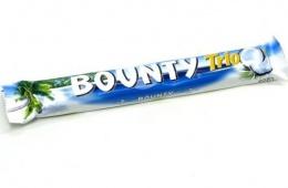 Шоколад Bounty – уже много лет продающаяся в России кокосовая сладость