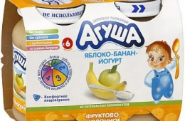 "Любимая еда моего малыша пюре ""Агуша"" (яблоко-банан-йогурт)"