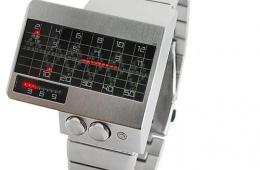 Необычные бинарные светодиодные часы в азиатском стиле