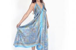 Воздушное легкое платье-платок ZARA