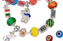 Неплохой браслет в стиле pandora с олимпийскими символами от Adamas