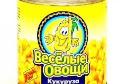 Самая дешевая консервированная кукуруза «Веселые овощи»