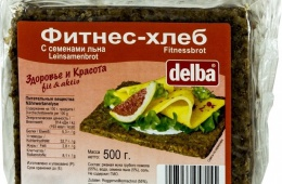 Фитнес-хлеб Delba с семенами льна