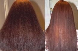 Кератиновое выпрямление волос дома. Фото до и после