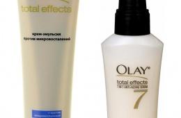 Крем-эмульсия и сыворотка для лица Olay total effects 7 в 1