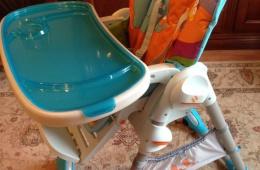 Отличный стульчик. Очень удобный и функциональный.