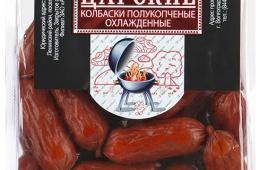 Колбаски Царь-продукт Царские полукопченые