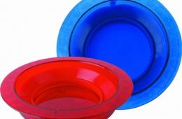 Пластмассовая детская тарелка на присоске