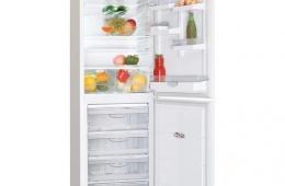 Высокий холодильник с большой морозильной камерой