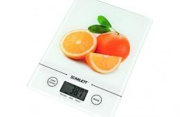 Scarlett SC-1213 – небольшие и компактные весы для взвешивания продуктов питания