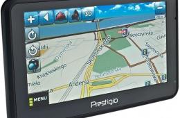 GPS Prestigio Geovision 5050 – автомобильный навигатор на базе обеспечения «Навител»