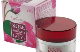 Розовый крем для век