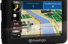 Автомобильный навигатор с большим экраном Prestigio Geovision 5050